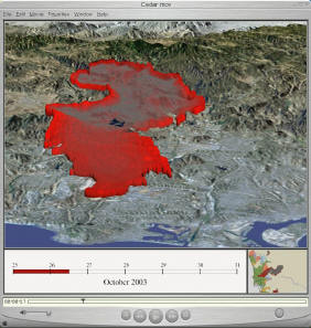 San Diego Wildfire Web Mapping Services - Cedar fire map