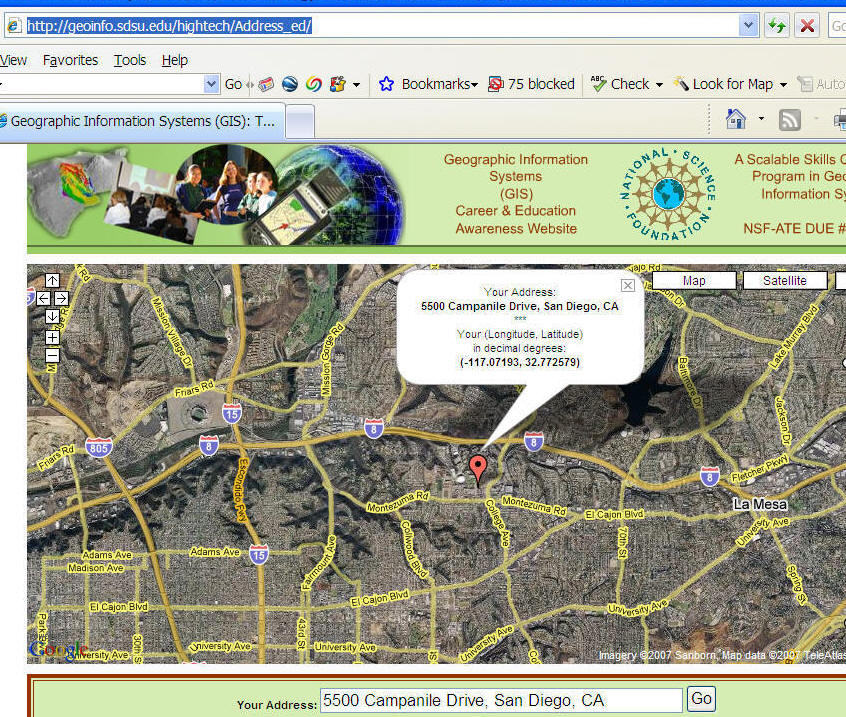 Google Map Quest Page