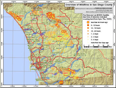 Internet Mapping Services For San Diego Wildfire 2007 By