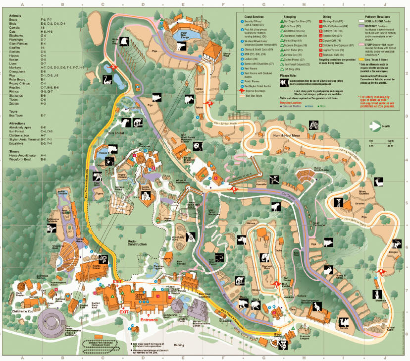 Group Services Page - San diego zoo map