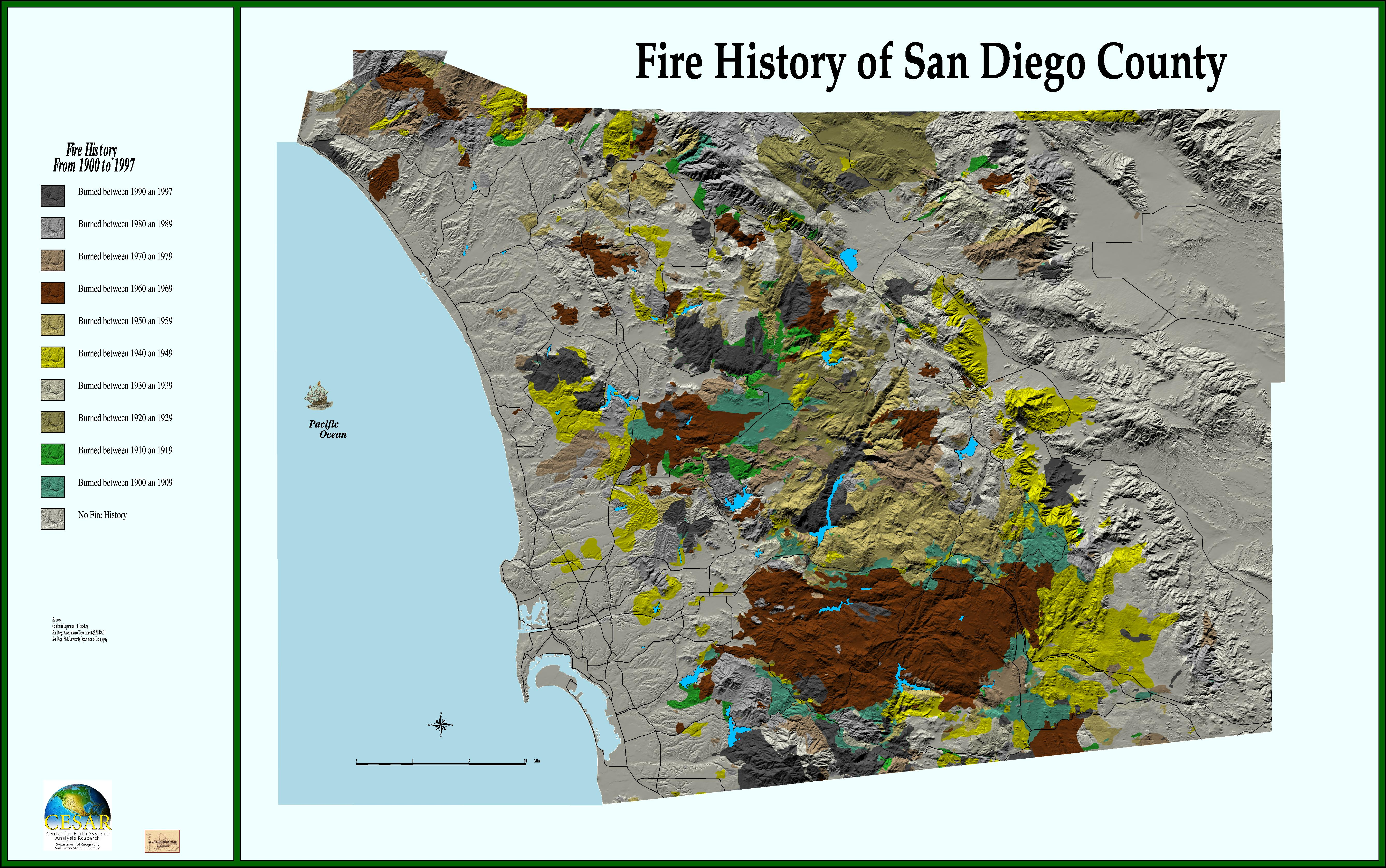 San Diego Wildfire 2003 Web Mapping Services