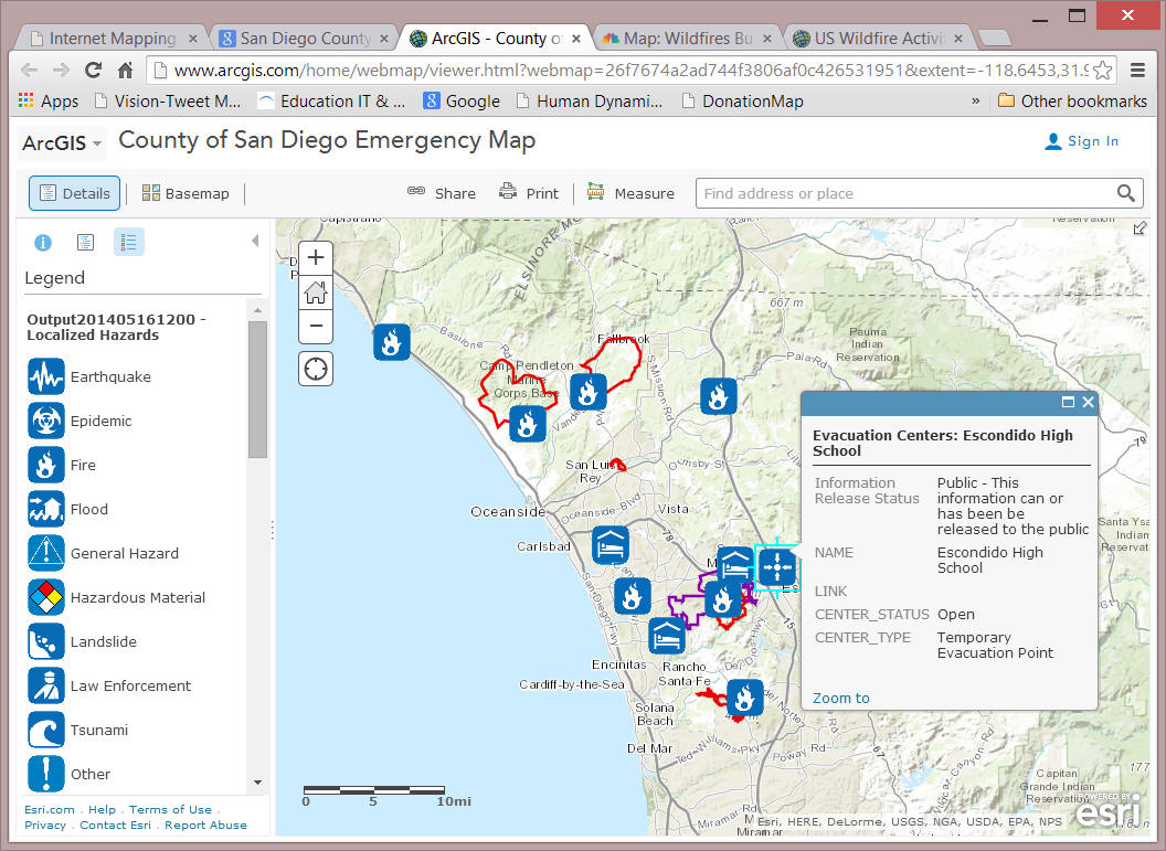 ArcGIS emergency map